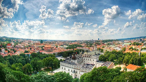 A view of Vilnius from the top of Gediminas Tower (1)